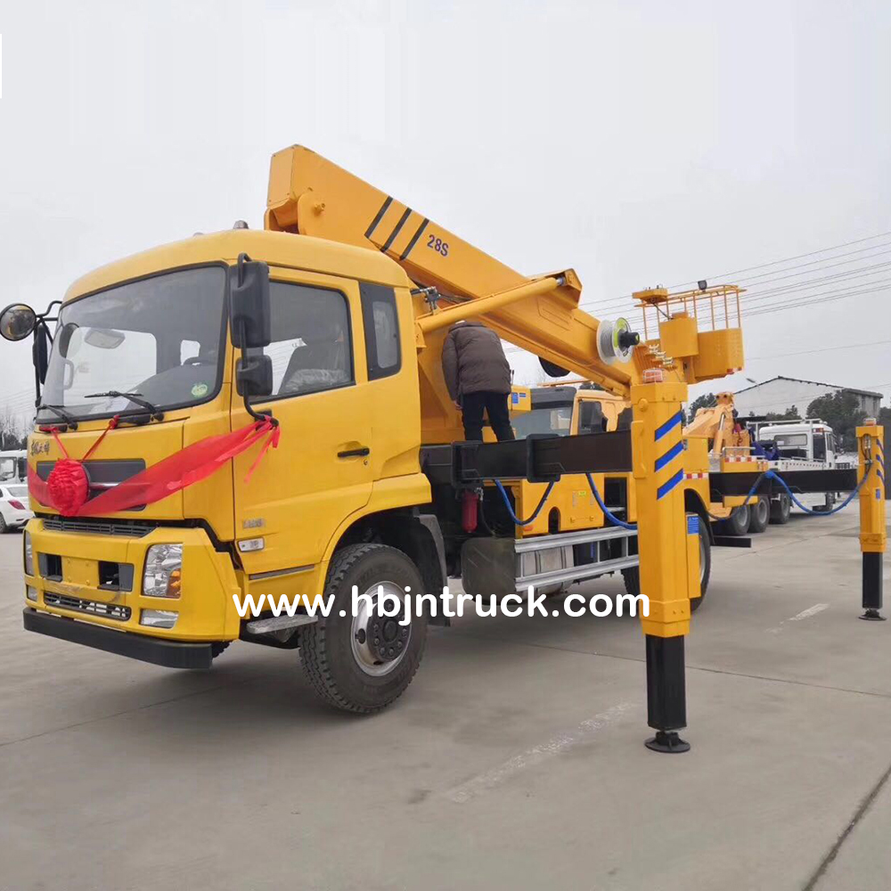 Telescopic Boom Aerial Lifter Truck