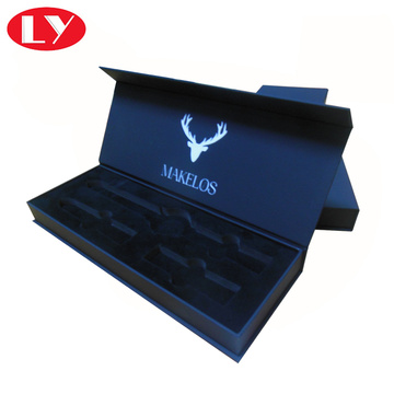Magnet Close Luxury Black Watch Box with Logo