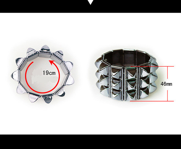 Stretch Acrylic Plate Ladies Bracelet Bangles