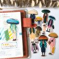 12Pcs/Lot Retro Cartoon Mushroom Head Person Stickers DIY Craft Scrapbooking Album Journal Happy Planner Decorative Stickers