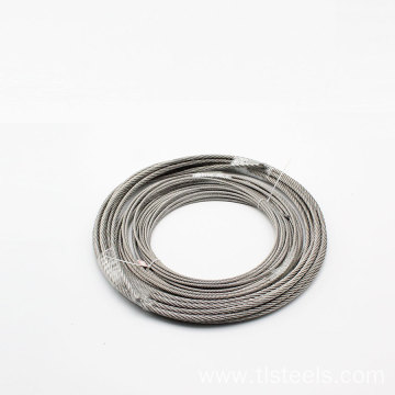 AISI 316 Stainless Steel Wire Rope 7X7 1.2mm