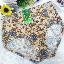 OEM wholesale China cheap apricot sexy women printed flowers fancy underwear 5671