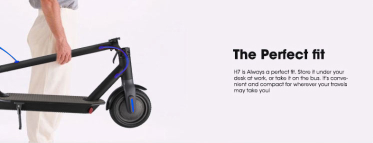 H7 Electric Scooter Blue 08