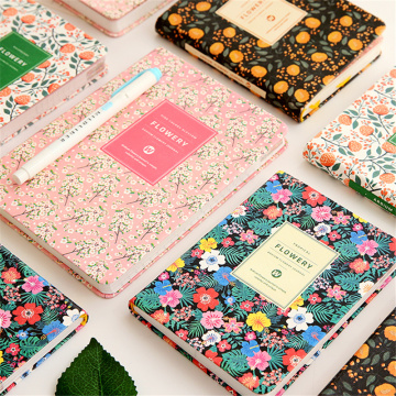 Hardcover DIY Self-filling Week Monthly Planner Japanese Style Fresh Cherry Blossom Memo Schedule Hand Account Notebook D40