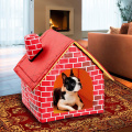 Portable Dog House Foldable Winter Warm Pet Bed Nest Tent Cat Puppy Kennel  Pet Bed Nest Tent
