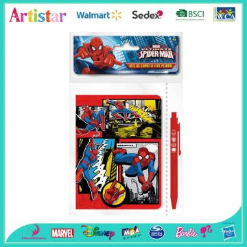 MARVEL SPIDERMAN opp bag packing stationery set