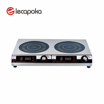 220V Stainless 2-zone  induction cooker 2100W