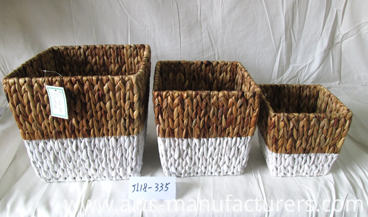 water hyacinth flower basket