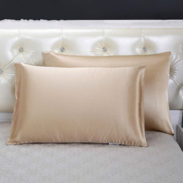 Pair Of Natural Mulberry Silk Pillowcases Standard Size