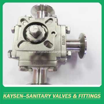 3A Hygienic manual square 3-way ball valves