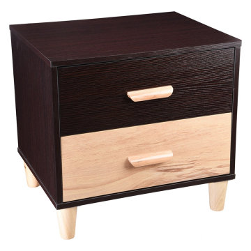 Bed Side End Table Bedroom Night Stand Wooden Storage Shelf Drawer Furniture