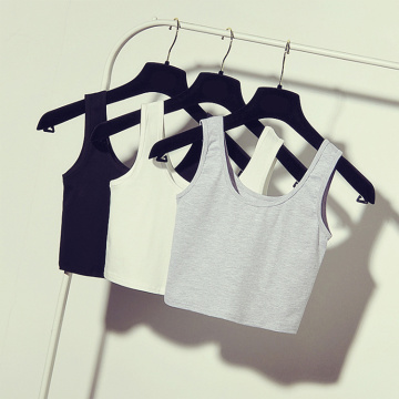 Sexy Womens Scoop Neck Crop Belly Top Vest Sleeveless Midriff Shirt Blouse Tank Top Short Crop Tops
