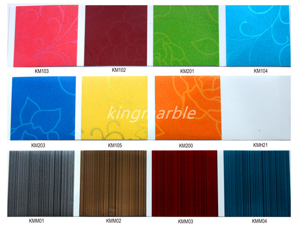 PVC imitation marble sheet/board production
