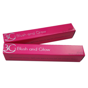Pink Lipstick Box with Silver Hot Stamping