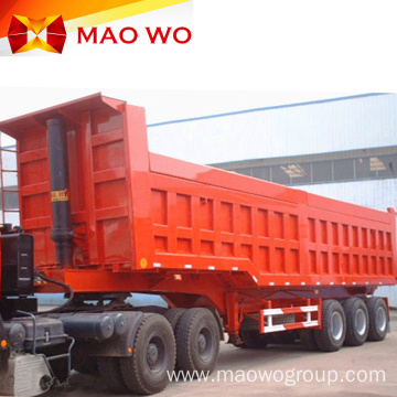 Optional 60ton Rear Hydraulic Dump Trailer