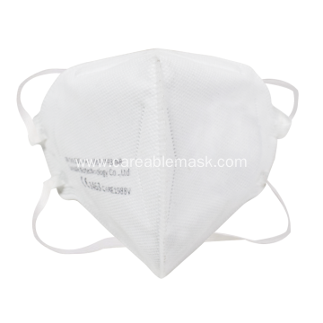 FFP3 Folded Mask Head Band Non-valved CE