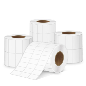 Custom blank thermal transfer adhesive labels roll