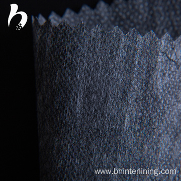 Polyester black nonwoven fusible garment interlining