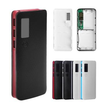 3 USB Ports 5x 18650 DIY Portable Battery Holder LCD Display Power Bank Case Box
