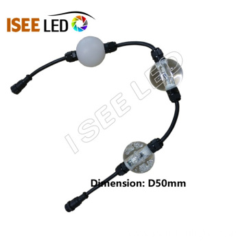 Music Actived RGB LED Ball DMX512 Programmable