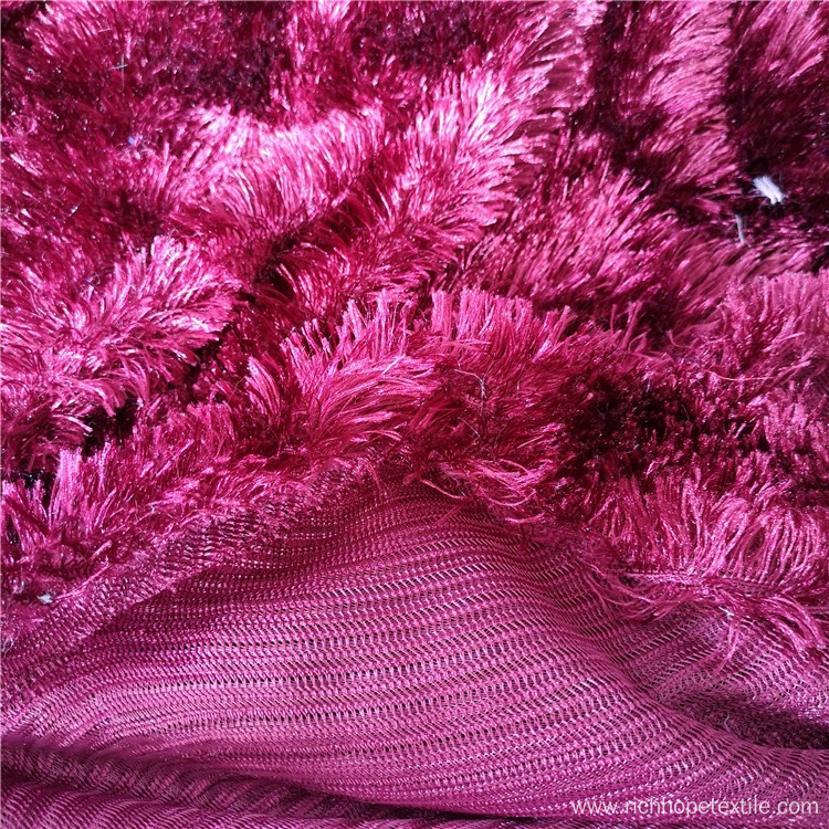 Polyester Embossed Pv Plush Fabric For Home Textile