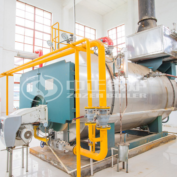 WNS1-10t/h heavy oil fired steam boiler