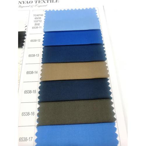 TC45*45 65/35 133*72 Twill Dyed Fabric