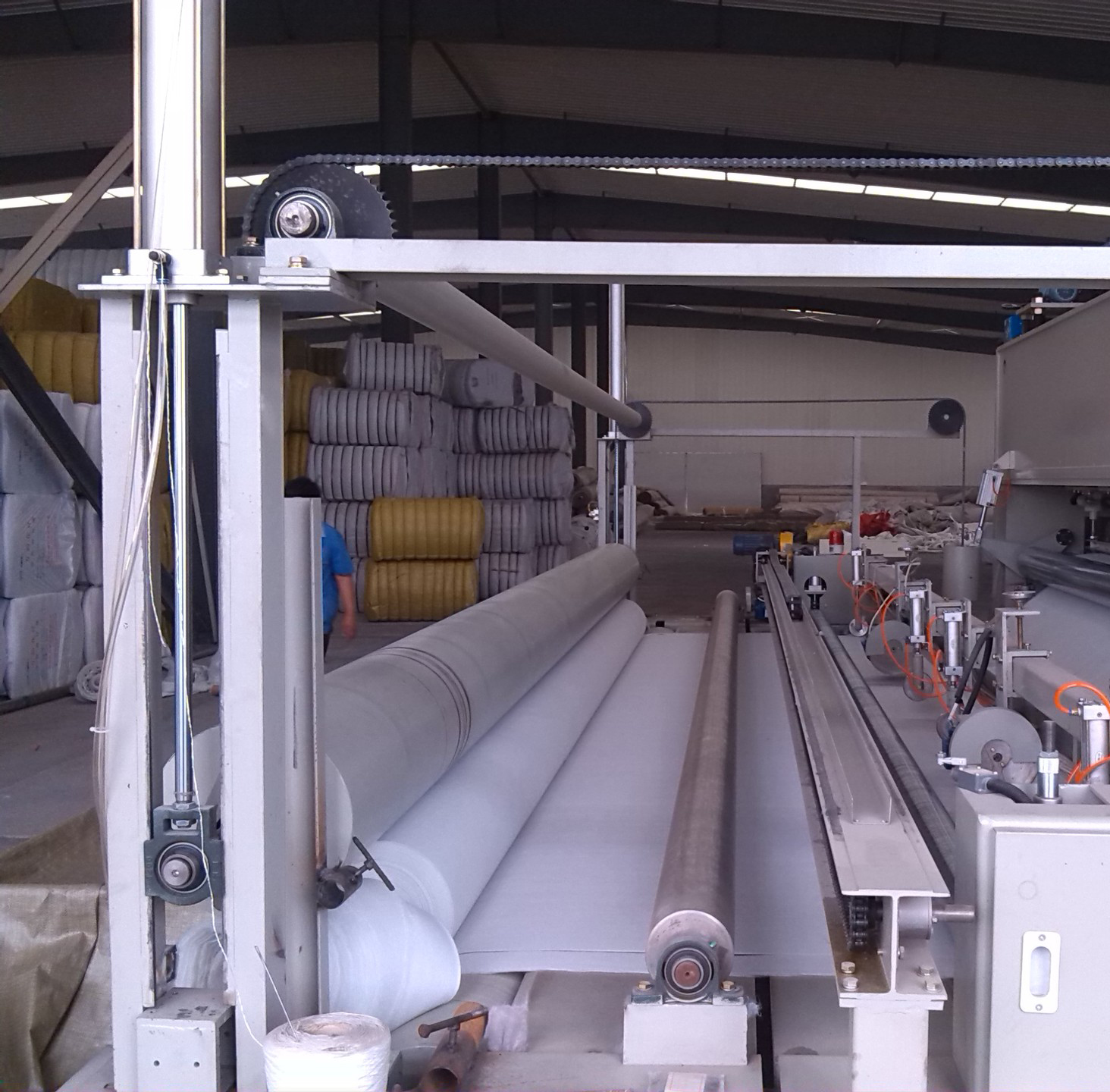 nonwoven geotextile machine