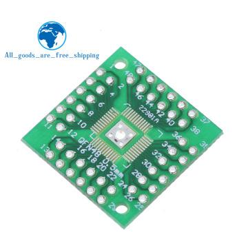 1Pcs HTQFP QFN48 to DIP48 QFN44 0.5mm QFP48 QFP44 PQFP LQFP Adapter Plate