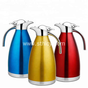 Heat Preservation Double Wall Stainless Steel Coffee Pot