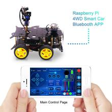 Ultimate Starter Kit for Raspberry Pi HD Camera Programmable Robot Car with 4WD Electronics DIY Stem Toy (Without:Raspberry Pi)