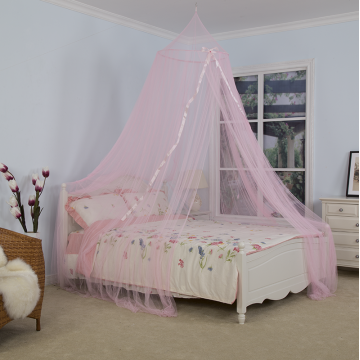 Pink Ribbon Umbrella Mosquito Net Bed Canopy