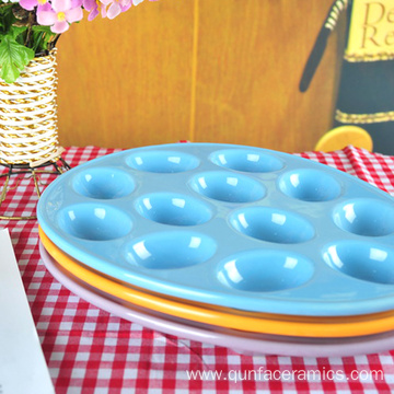 Wholesale High Quality Ceramic Egg Holder Plate