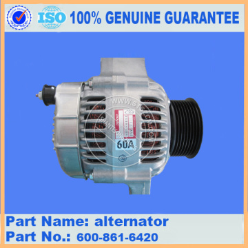 Komatsu excavator parts PC200-8 alternator 600-861-3111