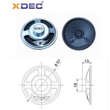 Full range loud 57mm 8ohm 3w siren speaker