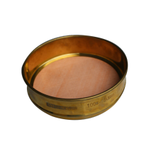 Brass standard soil test sieve