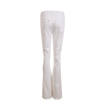 Lady's White Long Pants