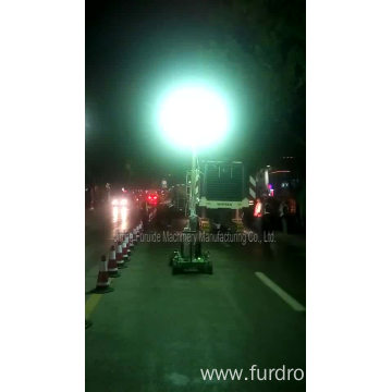Hot Sale Telescopic Generator Electric Portable Balloon Light Tower For Night Repair FZM-Q1000