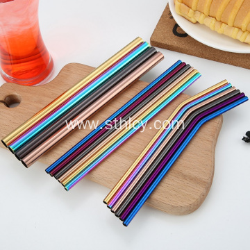 Reusable Colorful Straw Metal Stainless-steel