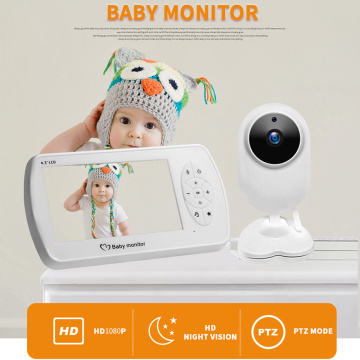 1080P 4.3 inch Screen Wireless Video Nanny Baby Monitor With Camera Security 2MP Babyfoon Temperature Monitor Night Vision