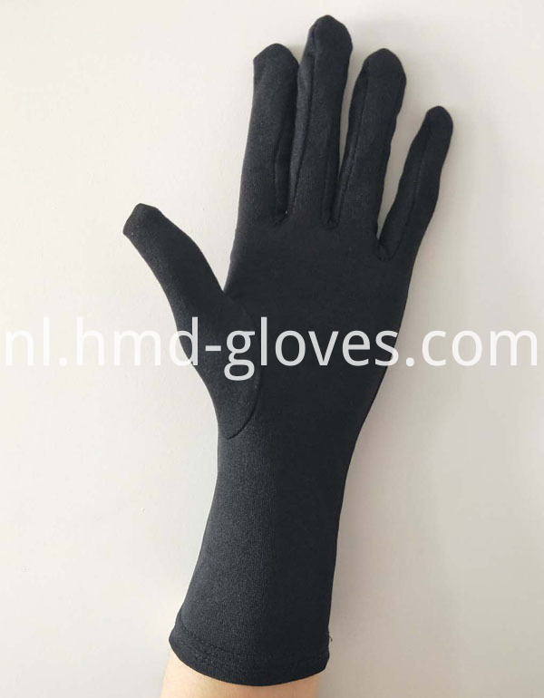 Hand Ceremonial Black Gloves palm black
