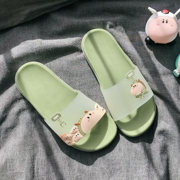 Summer Women Slippers Cute Lovely Animal Floor Flat Shoes Colorful Indoor Flip Flops Non-Slip Bathroom Home Female Beach Slides