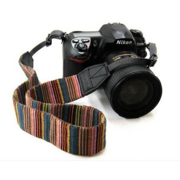 10pcs Ethnic Style Stripes Wide Edge Soft Neck Camera Straps Shoulder Belt Grip For Nikon Canon Sony Pentax DSLR camera