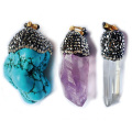 Irregular Natural Stone Pendants Handmade Clay Necklace