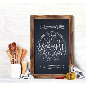 Rustic Torched Wood Magnetic Wall Chalkboard