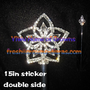 Star Rhinestone Pageant Scepters