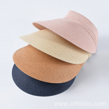 Adjustable factory cheap paper straw visor cap