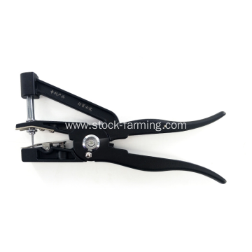 Cattle tag applicator goat ear tag plier