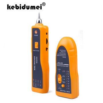 kebidumei For UTP STP Cat5 Cat6 RJ45 Line Finder Telephone Wire Tracker Tracer Diagnose Tone Tool Kit LAN Network Cable Tester