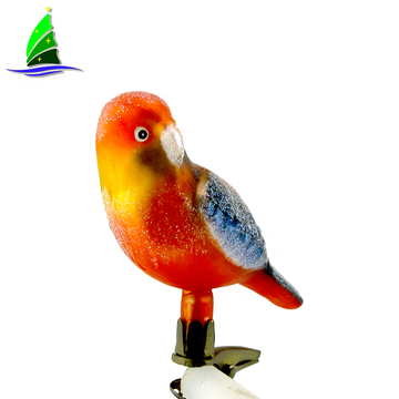 glass Red Yellow Parrot  ornament Tropical Bird
